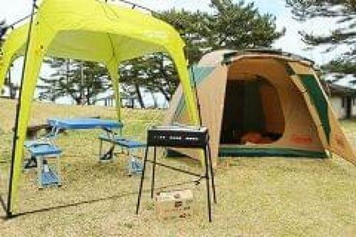 準備いらず、テントは設営済み